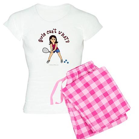 Racquetball Girl (Light) Women's Light Pajamas