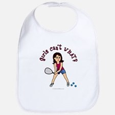 Racquetball Girl (Light) Bib