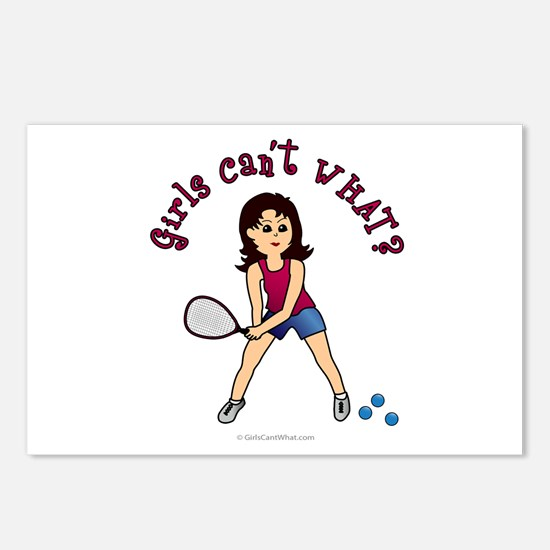 Racquetball Girl (Light) Postcards (Package of 8)