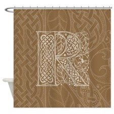 Celtic Letter R Shower Curtain