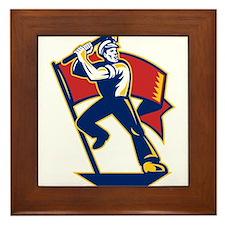 communist worker Framed Tile