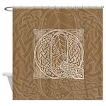 Celtic Letter Q Shower Curtain