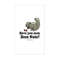 Deez nuts - Rectangle Decal