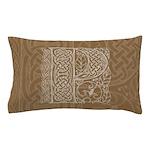 Celtic Letter P Pillow Case
