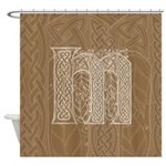 Celtic Letter M Shower Curtain