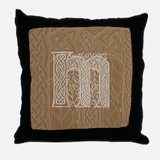 Celtic Letter M Throw Pillow