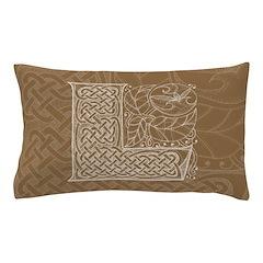 Celtic Letter L Pillow Case