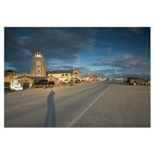 Storm clouds over a town, Homer Spit, Homer, Kenai