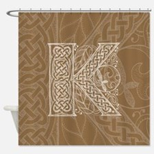 Celtic Letter K Shower Curtain