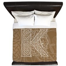 Celtic Letter K King Duvet Cover