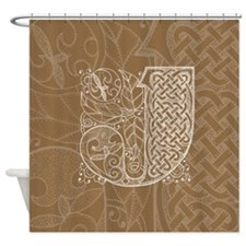 Celtic Letter J Shower Curtain
