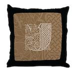 Celtic Letter J Throw Pillow