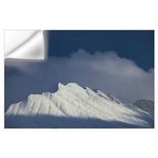 Cloudy sky over snowcapped mountains, Alaska Range Wall Decal