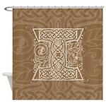 Celtic Letter I Shower Curtain
