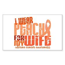 I Wear Peach 6.4 Uterine Cancer Decal