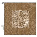 Celtic Letter G Shower Curtain