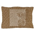 Celtic Letter F Pillow Case