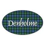 Tartan - Denholme Sticker (Oval 10 pk)
