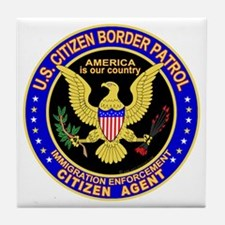 Border Patrol, US Citizen - Tile Coaster