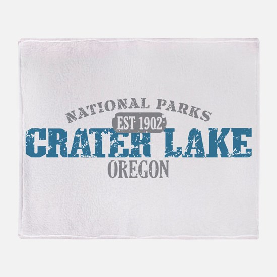 Crater Lake National Park OR Throw Blanket