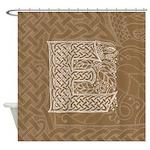 Celtic Letter E Shower Curtain