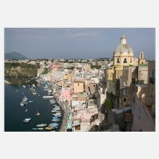 High angle view of a city, Procida, Naples, Campan