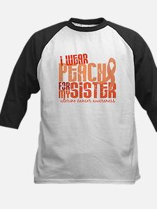 I Wear Peach 6.4 Uterine Cancer Kids Baseball Jers