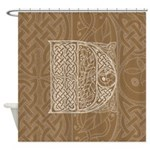 Celtic Letter D Shower Curtain