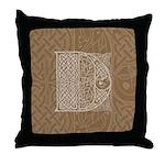 Celtic Letter D Throw Pillow