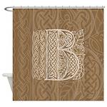 Celtic Letter B Shower Curtain
