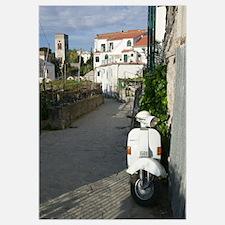 Scooter on the street, Ravello, Salerno, Campania,