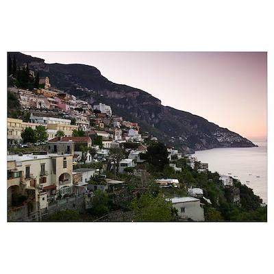 Town on the hillside, Amalfi Coast, Positano, Sale Poster