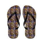 Gold Jewelled Ribbons Flip Flops