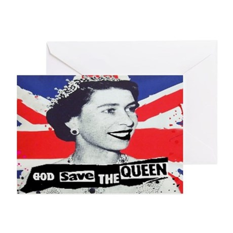 GOD SAVE THE QUEEN Greeting Cards (Pk of 10)
