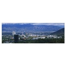 High angle view of a city, Burbank, California Poster