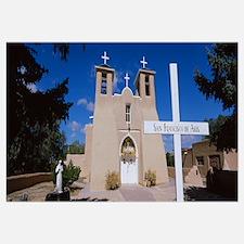 Cross in front of a church, San Francisco de Asis