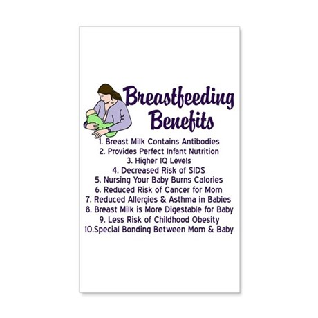 Breastfeeding Benefits 20x12 Wall Decal