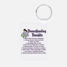 Breastfeeding Benefits Aluminum Photo Keychain