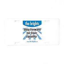 Step Forward Aluminum License Plate
