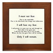 Litany Against Fear Framed Tile