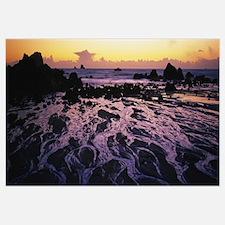 Beach at sunset, Del Norte County, California