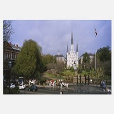 Road in front of a cathedral, Jackson Square, St.