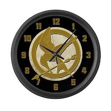 Hunger Games Logo Large Wall Clock