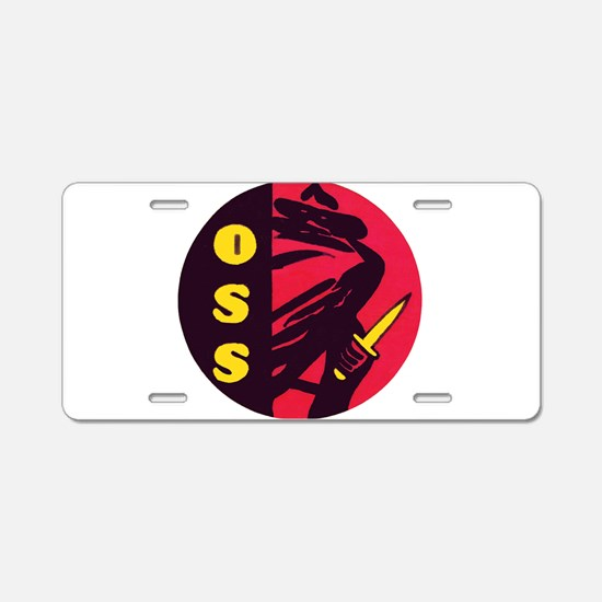 O.S.S. Aluminum License Plate