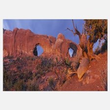Rock formations on a landscape, Arches National Pa
