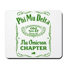 Phi Mu Delta - Old #57 / green Mousepad