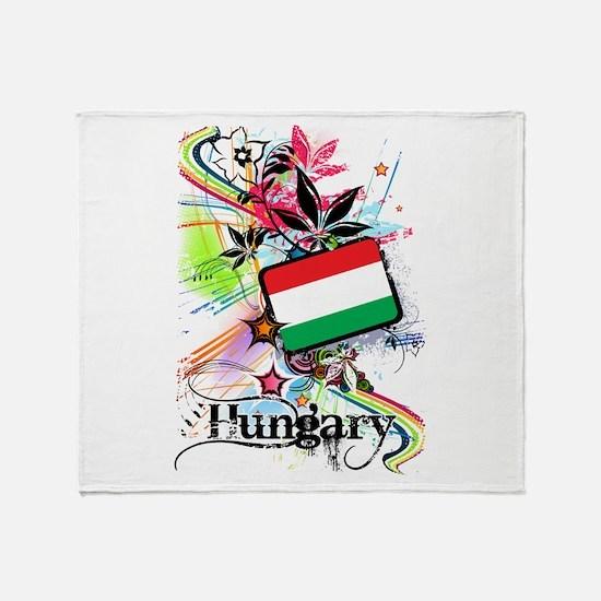 Flower Hungary Throw Blanket