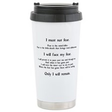 Litany Against Fear Travel Mug