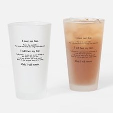 Litany Against Fear Drinking Glass