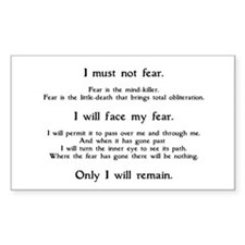 Litany Against Fear Decal
